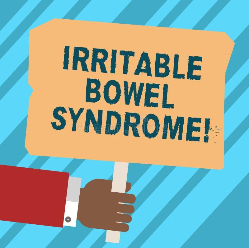 Słowo pisze tekstowi Gniewliwej kiszki syndromu Biznesowy pojęcie dla nieładu wymaga brzusznego ból Hu i biegunkę ilustracja wektor