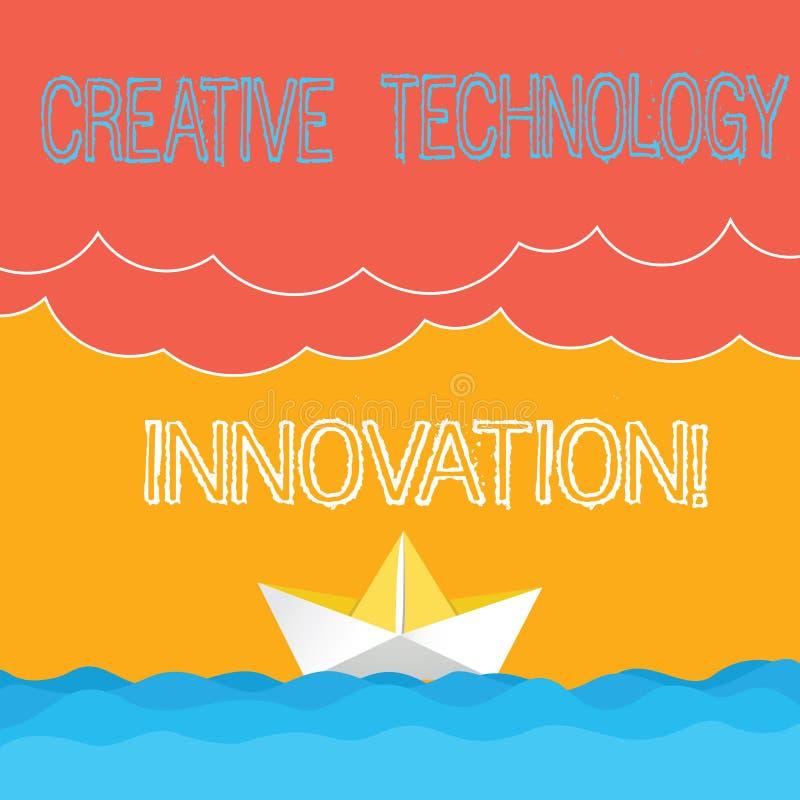 Słowo pisze tekstowi Kreatywnie technologii innowacji Biznesowy pojęcie dla spuszczać ze smyczy umysł poczynać nowych pomysły Mac ilustracji
