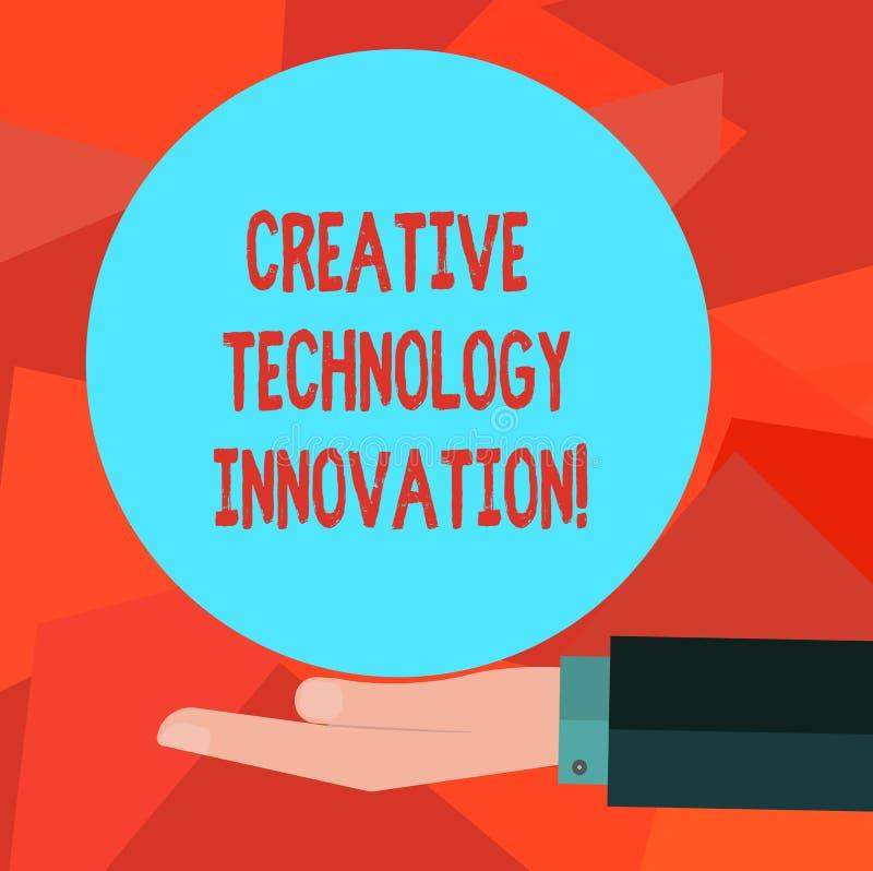 Słowo pisze tekstowi Kreatywnie technologii innowacji Biznesowy pojęcie dla spuszczać ze smyczy umysł poczynać nowych pomysły Hu ilustracji