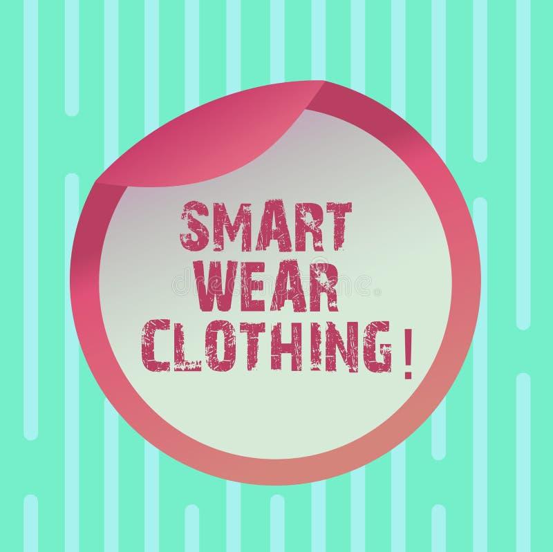 Słowo pisze tekstowi Mądrze odzieży odzieży Biznesowy pojęcie dla definiujący jak ubiór lub formalną butelkę ogólny przypadkowego ilustracja wektor