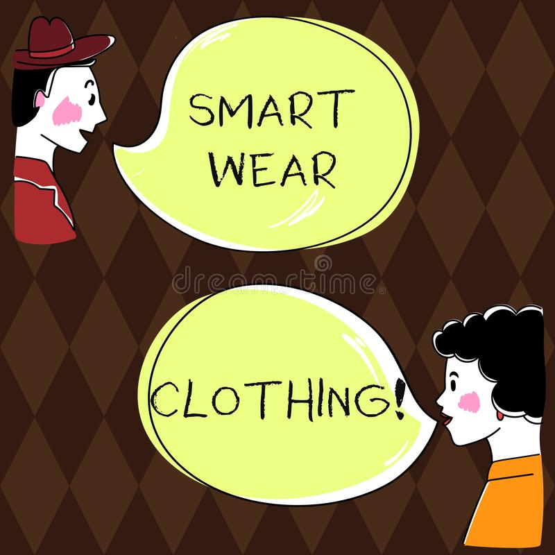 Słowo pisze tekstowi Mądrze odzieży odzieży Biznesowy pojęcie dla definiujący jak ubiór lub formalną rękę ogólny przypadkowego mi ilustracja wektor