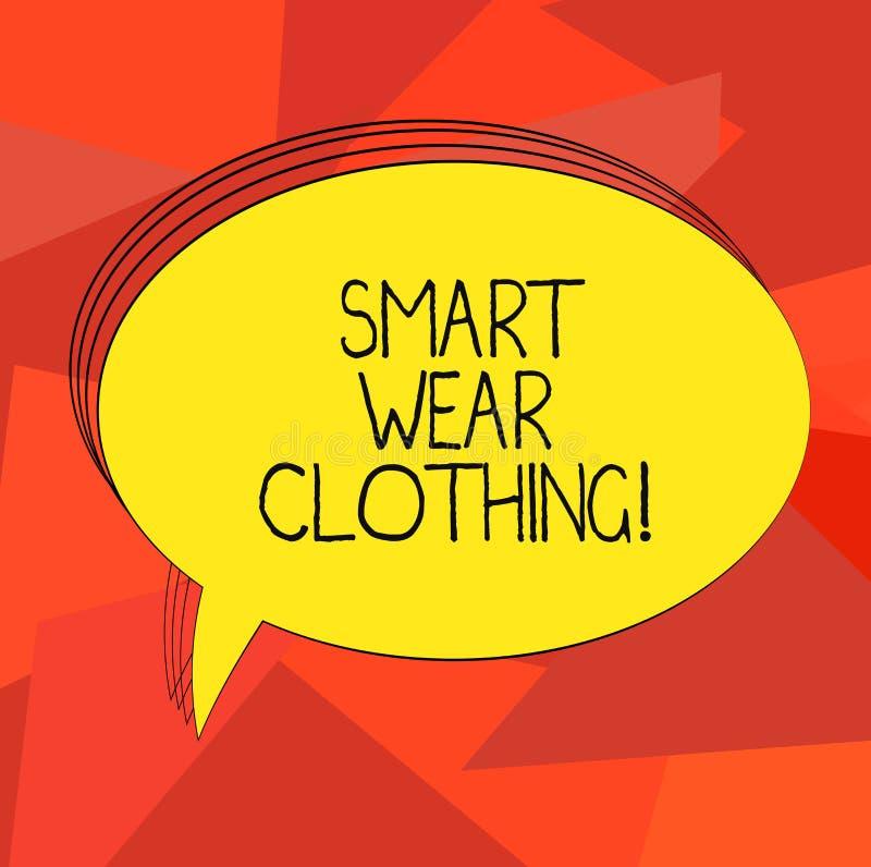 Słowo pisze tekstowi Mądrze odzieży odzieży Biznesowy pojęcie dla definiujący jak ubiór lub formalnego puste miejsce ogólny przyp ilustracja wektor