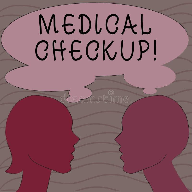 Słowo pisze tekstowi Medycznym Checkup Biznesowy pojęcie dla gruntownego fizycznego egzaminu zawiera rozmaitość testy royalty ilustracja