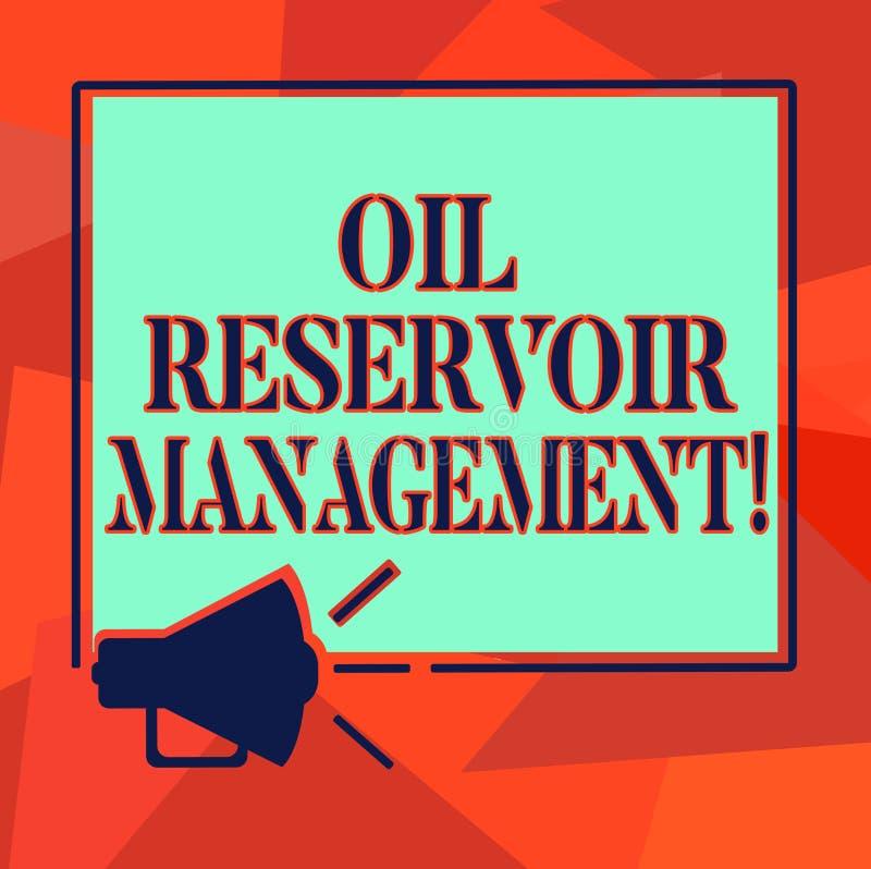 Słowo pisze tekstowi Nafcianego rezerwuaru zarządzaniu Biznesowy pojęcie dla analysisaging wyzdrowienie gaz naturalny od rockoweg royalty ilustracja