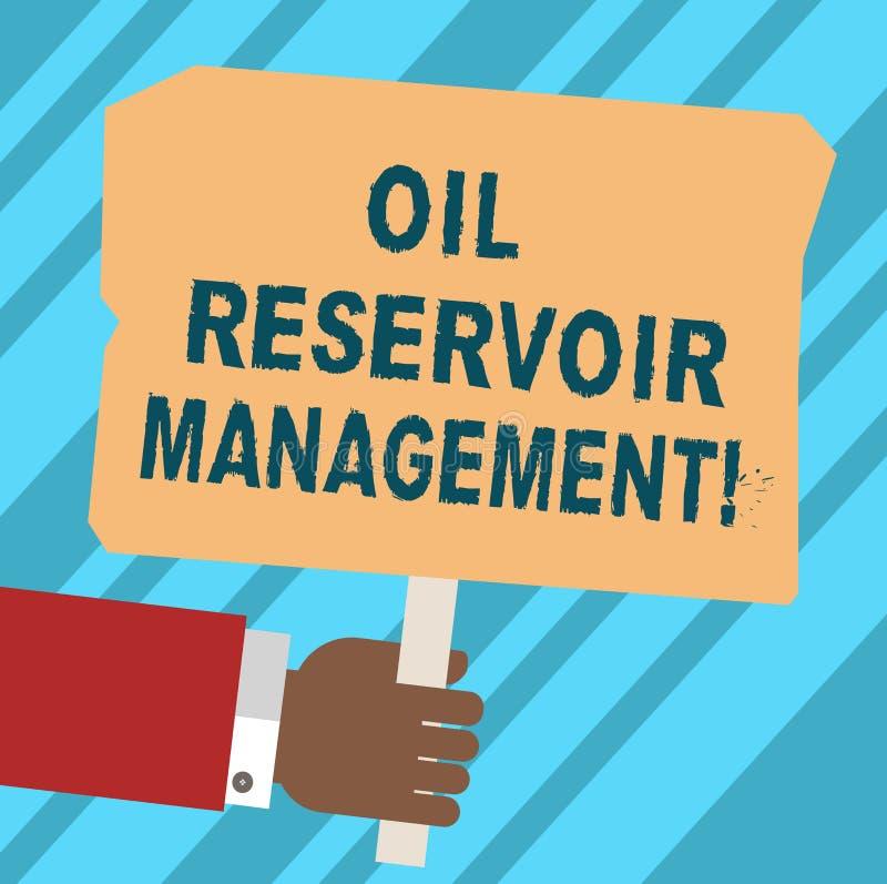 Słowo pisze tekstowi Nafcianego rezerwuaru zarządzaniu Biznesowy pojęcie dla analysisaging wyzdrowienie gaz naturalny od rockoweg ilustracja wektor