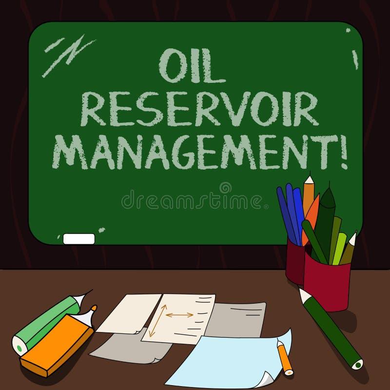 Słowo pisze tekstowi Nafcianego rezerwuaru zarządzaniu Biznesowy pojęcie dla analysisaging wyzdrowienie gaz naturalny od skały Ws royalty ilustracja