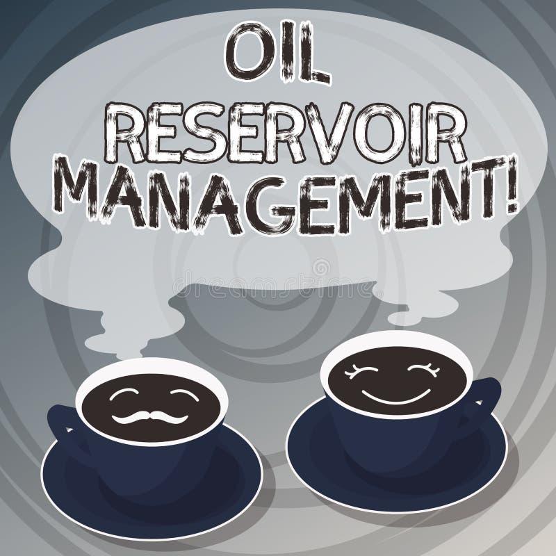 Słowo pisze tekstowi Nafcianego rezerwuaru zarządzaniu Biznesowy pojęcie dla analysisaging wyzdrowienie gaz naturalny od skały ilustracji