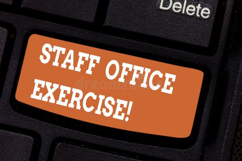 Słowo pisze tekstowi Pięcioliniowego biura ćwiczeniu Biznesowy pojęcie dla Promować fizycznej sprawności fizycznej rutynę dla biu ilustracji