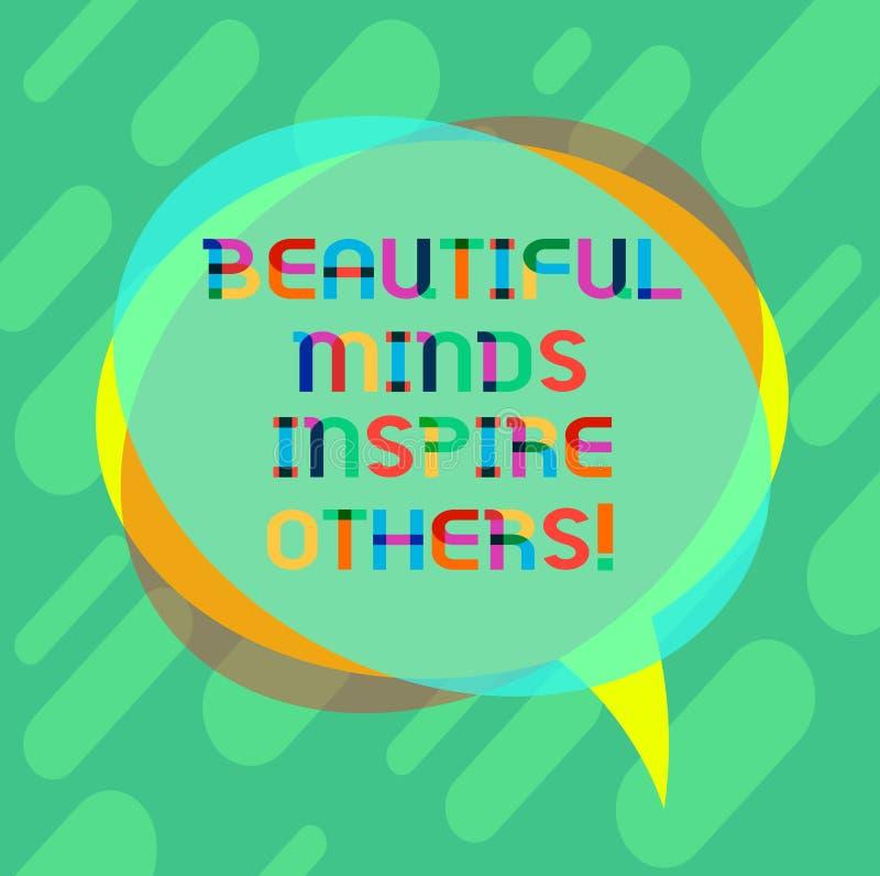 Słowo pisze tekstowi Pięknych umysłach Inspiruje Inny Biznesowy pojęcie dla Pozytywnego seansu daje inspiracji everyone ilustracja wektor