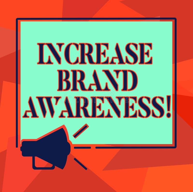 Słowo pisze tekstowi Przyrostowej gatunek świadomości Biznesowy pojęcie dla Dostawać influencers wystawiać twój produktu megafonu ilustracja wektor