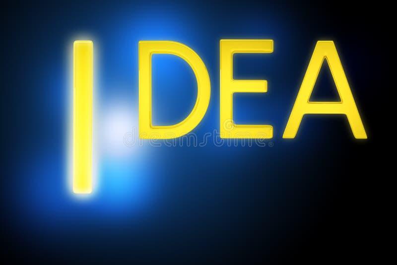 Download Słowo pomysł na błękicie obraz stock. Obraz złożonej z abstrakt - 65226371