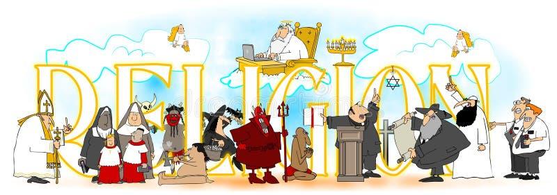 Słowo religia ilustracja wektor