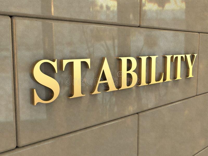 Słowo stabilność obrazy royalty free