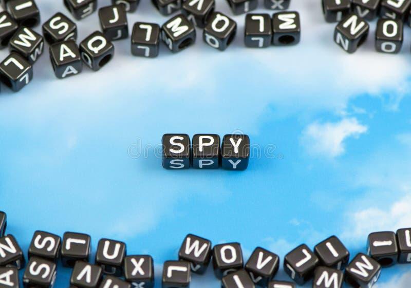 Słowo szpieg fotografia royalty free