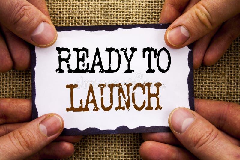 Słowo, writing, tekst Przygotowywający Wszczynać Konceptualna fotografia Przygotowywa nowego produktu początku Promocyjnego uwoln obraz stock