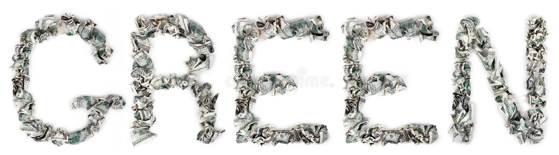 Zieleń - Crimped 100$ Rachunki Zdjęcie Royalty Free