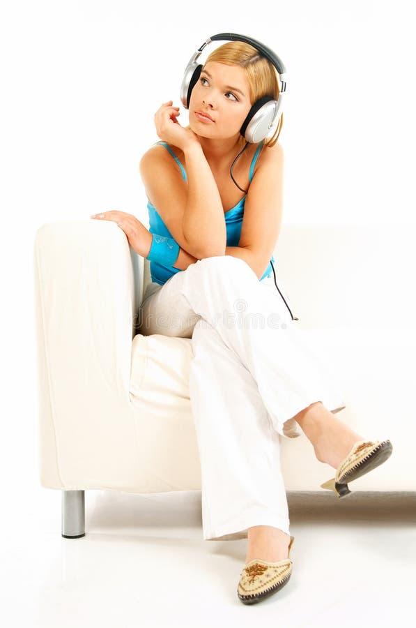 słuchał muzyki obrazy stock