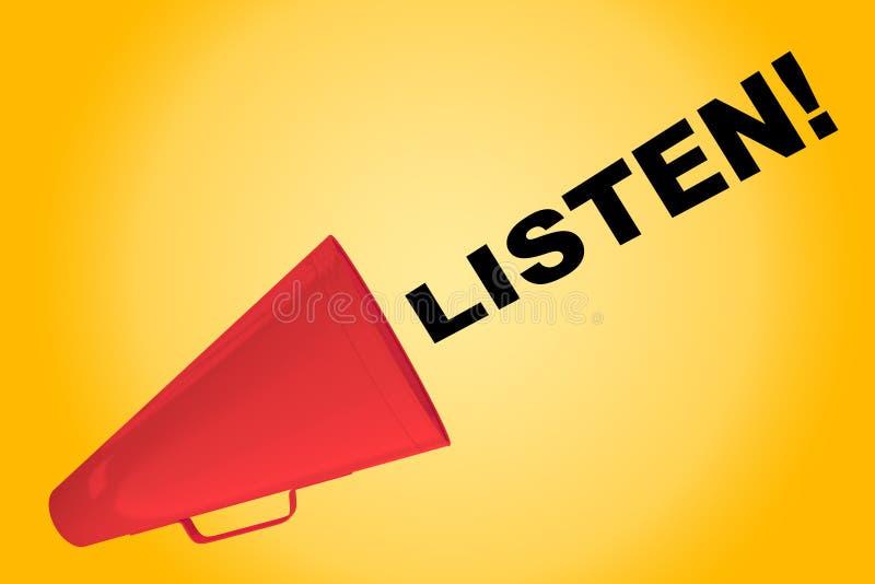 Słucha! - baczny pojęcie ilustracja wektor