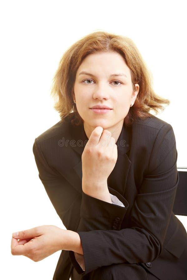 słuchająca kobieta zdjęcia stock