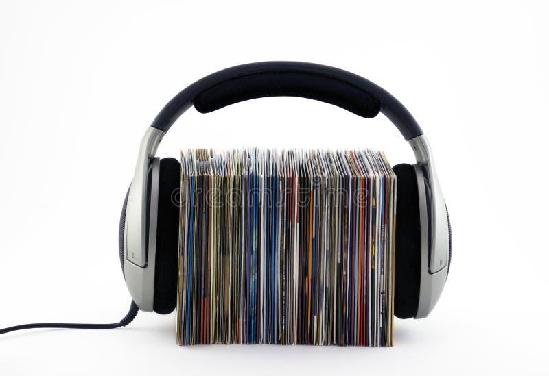 słuchająca pojęcie muzyka obraz stock