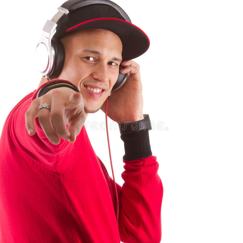 Słuchający muzyka, mister dj obrazy stock