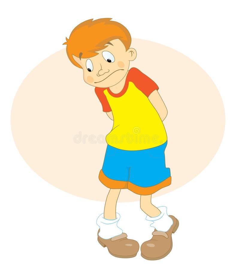 słuchaj chłopca smutny ilustracji