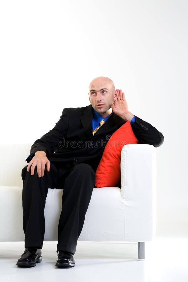słuchanie biznesmena zdjęcia royalty free