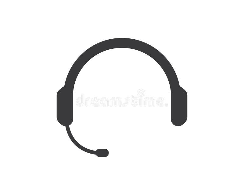 słuchawka logo ikony wektoru ilustracja ilustracji