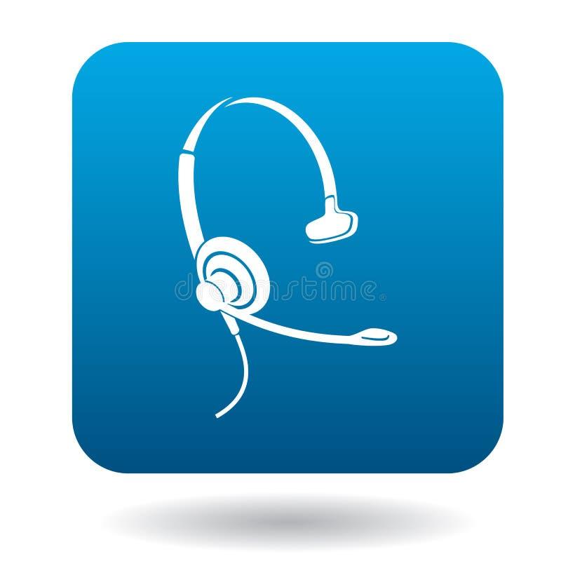 Słuchawka z mic dla konsultaci ikony ilustracja wektor