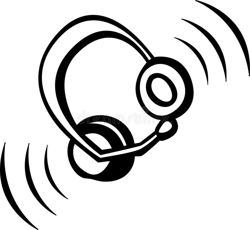 słuchawki royalty ilustracja