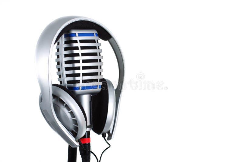 słuchawki mikrofon zdjęcia stock