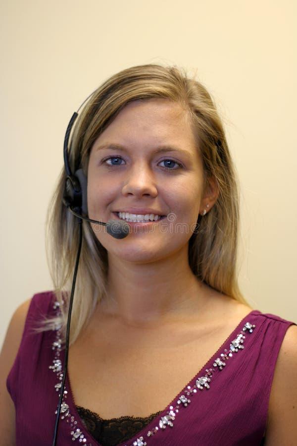 Słuchawki operator zdjęcia stock