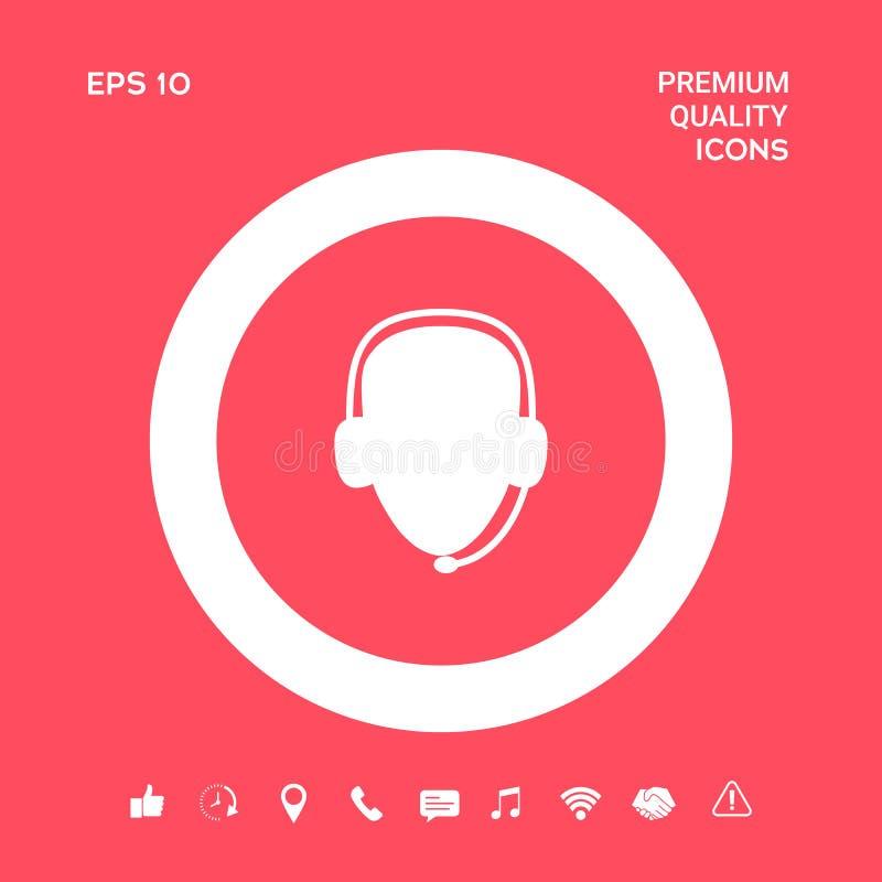 słuchawki operatora Centrum telefoniczne ikona Graficzni elementy dla twój projekta ilustracji