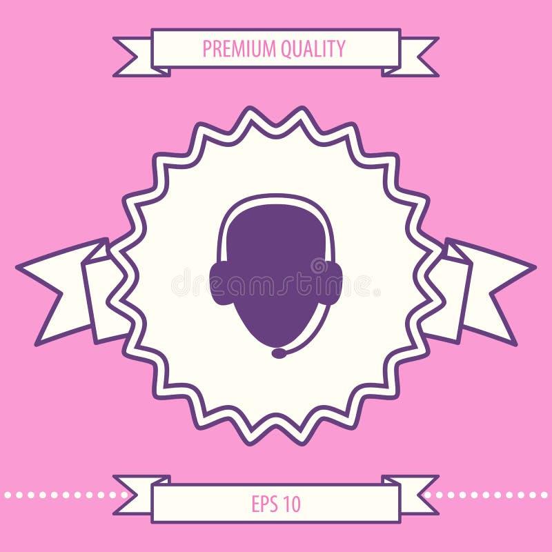 słuchawki operatora Centrum telefoniczne ikona Graficzni elementy dla twój projekta royalty ilustracja