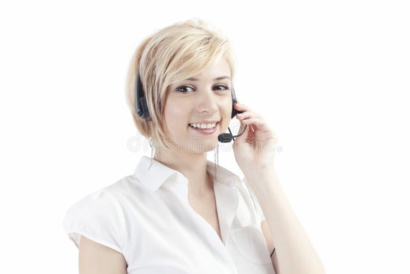 słuchawki wywoławczy operator fotografia royalty free
