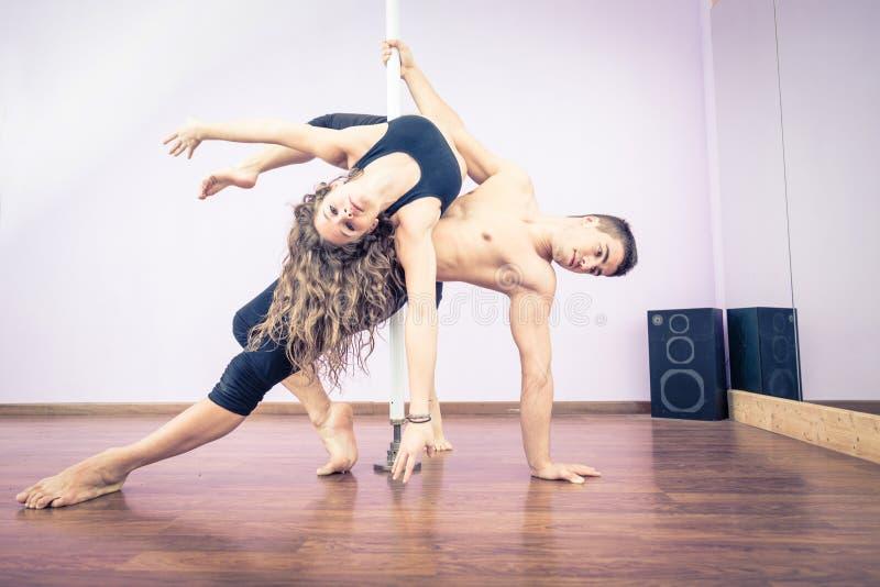 Słupów tancerze fotografia stock