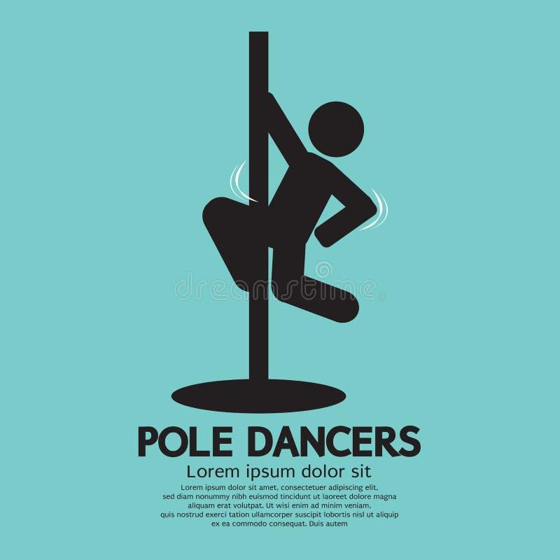 Słupów tancerze Graficzni ilustracji