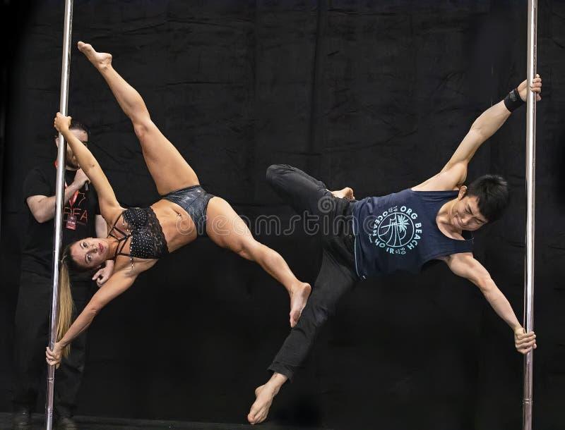 Słupów tancerze Wykonują przy 2019 Toronto Pro Supershow zdjęcie stock