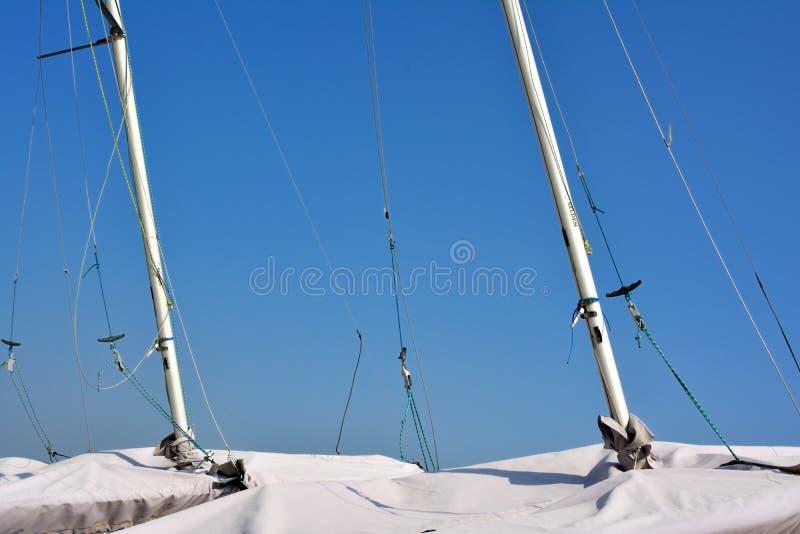 Słup żeglowanie łódź zdjęcie stock