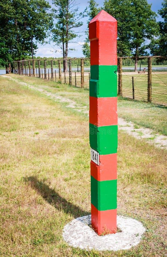 Słupa granicznego Grutas park Lithuania obrazy stock