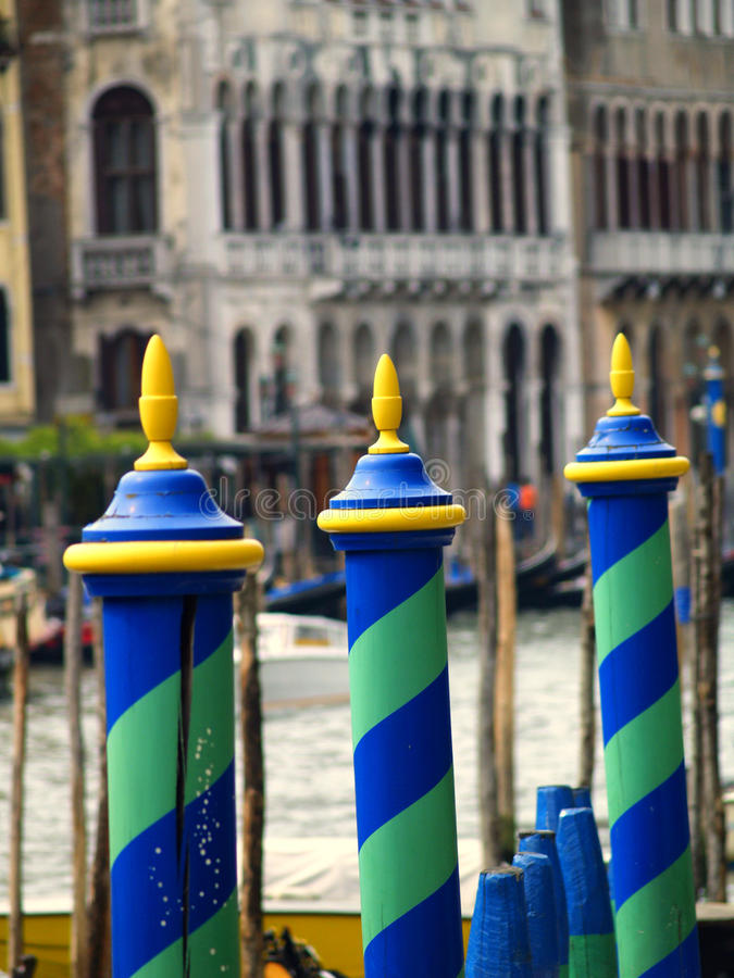Słupy w Wenecja fotografia royalty free
