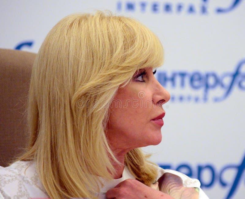 Słynny rosjanina TV podawca, stan i osoba publiczna, Delegat stan duma federacja rosyjska Oksana Pushkina zdjęcie royalty free
