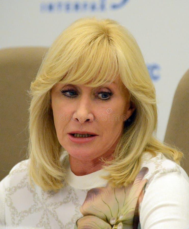 Słynny rosjanina TV podawca, stan i osoba publiczna, Delegat stan duma federacja rosyjska Oksana Pushkina zdjęcie stock