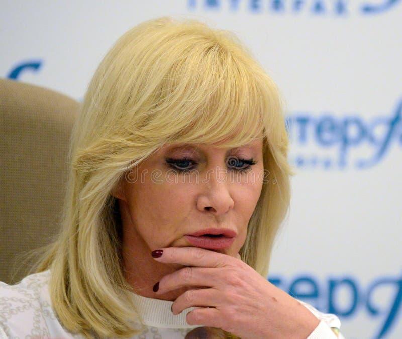 Słynny rosjanina TV podawca, stan i osoba publiczna, Delegat stan duma federacja rosyjska Oksana Pushkina obraz royalty free