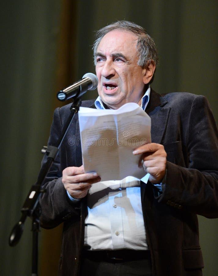 Słynny Rosyjski satyryk, pisarz i humorysta, Yefim Smolin obraz royalty free