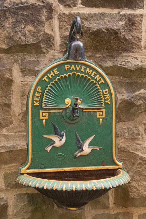 Słynny typ pić fontannę która znajdował w wiele Glasgow parkach w Wiktoriańskiej erze fotografia stock