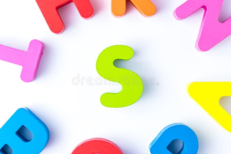 S信件用英语 图库摄影