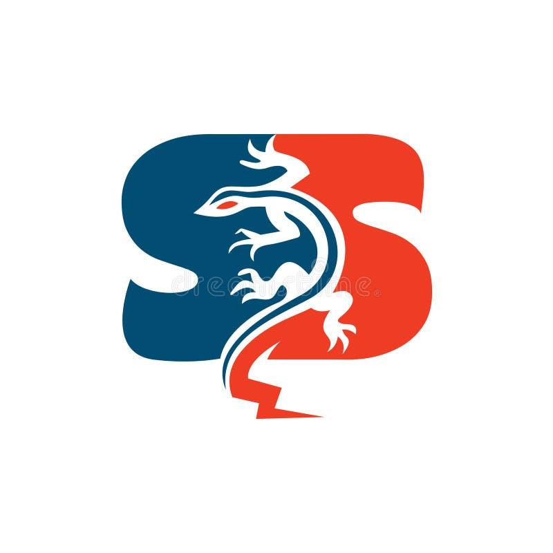 S信件蝾火火焰力量商标例证 皇族释放例证