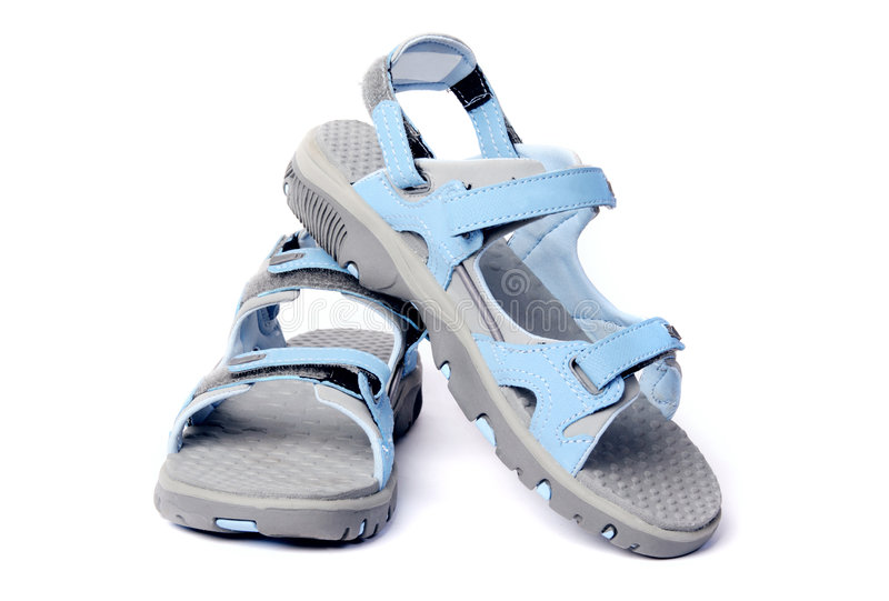 s凉鞋体育运动妇女 库存图片
