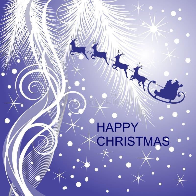 s圣诞老人雪橇 向量例证
